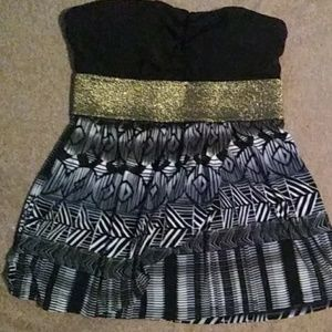 Charlotte Russe strapless top